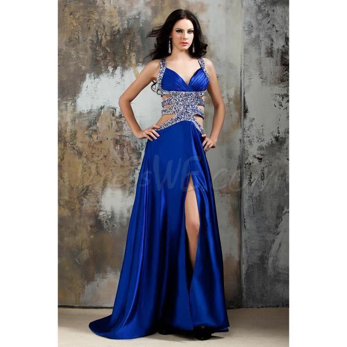 f0d3b1153da bleu royal robe de soirée pas cher des paillettes de détails robes élégant robe  soirée pas cher