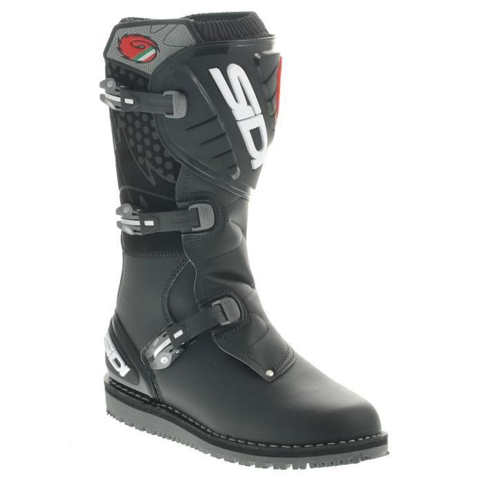 Zéro bottes de moto noires sSJRB