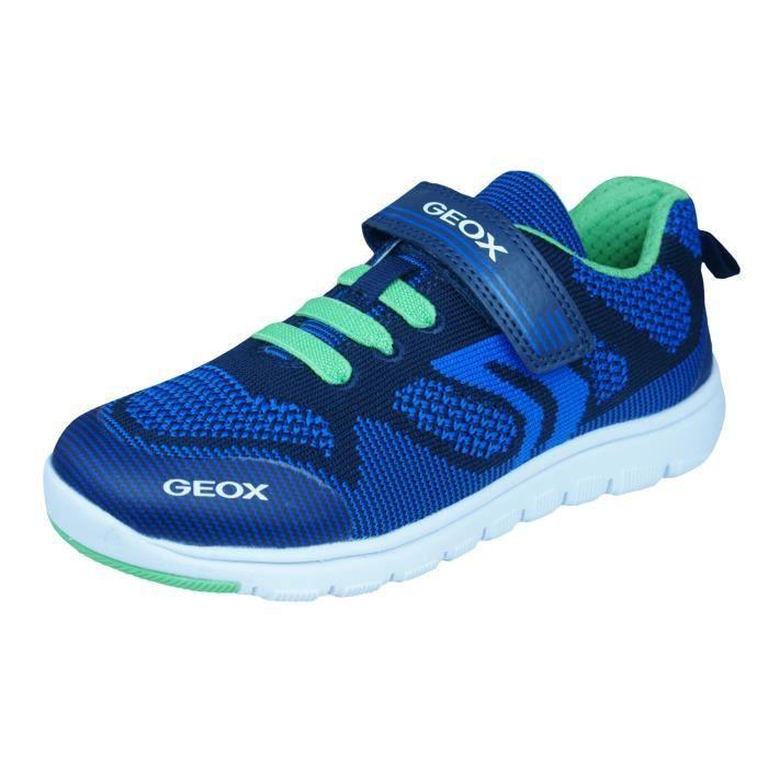 Geox J Xunday B J Garçons baskets Bleu 3