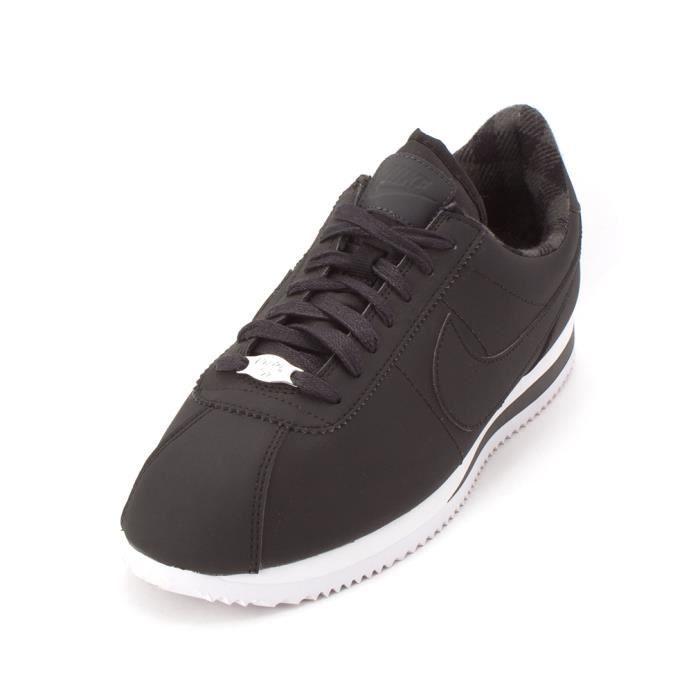 Femmes Nike Cortez Basic Prem Chaussures Athlétiques Noir