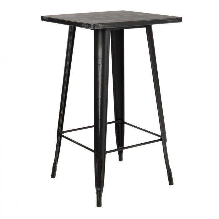 Table Haute Lix Vintage Noir Achat Vente Mange Debout Table