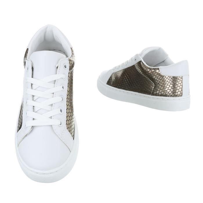 Femme chaussures loisirs chaussures Sneakers Chaussures de sport argent gris 37