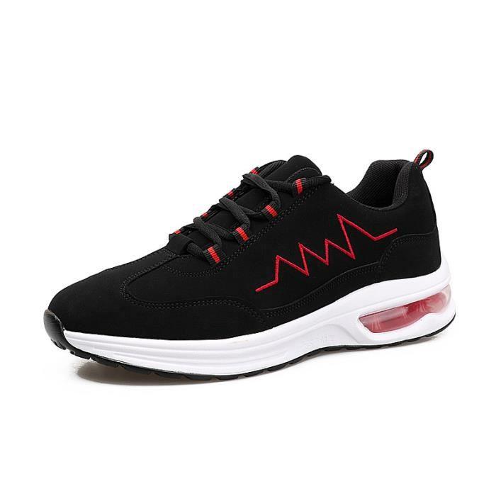 JOZSI Basket Hommes été hiver Respirant chaussures Hommes DTG-XZ207Rouge39 By0MQ