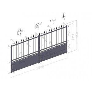 Portail battant achat vente portail battant pas cher cdiscount for Portail aluminium battant 350