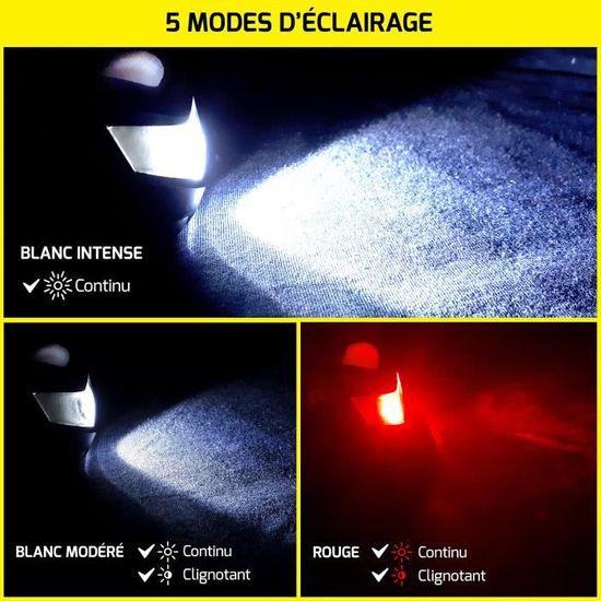 FrançaiseLampe Fitmotivaction marque Lumen Ultra Puissante Frontale Et 3 Batter Blanche autonomie Rouges Led Mètres 180 120 30h 4LcAq35jSR