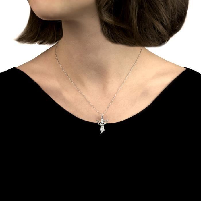 Collier Avec Pendentif - Argent 925 - Diamant 0.001 Cts - 46 Cm - 0.01.0020 Z8P0R