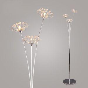 LAMPADAIRE 3 têtes Cristal Pissenlit Salon Lampadaire Créatif