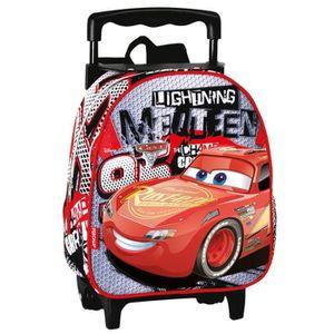 CARTABLE Sac  à roulettes maternelle Cars Disney Fast 28 CM