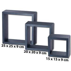 Etagere cube noire - Achat / Vente pas cher -