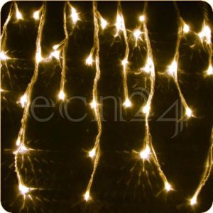 GUIRLANDE LUMINEUSE INT Guirlande stalactite LED 8m, lumière statique b...