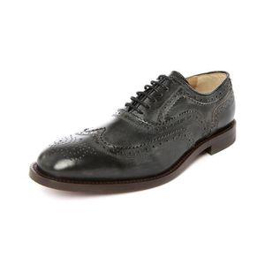 Mocassins en cuir Chaussures Oxford pour Chaussures habillées en cuir véritable homme rétro Derbies hommes,marron,8.5,115_115