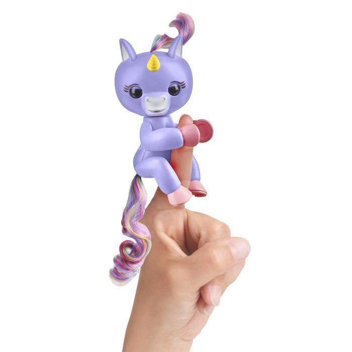 WOW WEE Fingerlings bébé licorne interactive bleue - Garçon et Fille - A partir de 5 ans - Livré à l'unitéROBOT MINIATURE - PERSONNAGE MINIATURE - ANIMAL ANIME MINIATURE