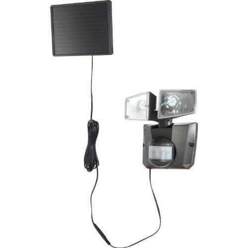 Globo Lighting Projecteur solaire - Plastique gris - Plastique translucide - IP44 - Interrupteur - Capteur : 180°