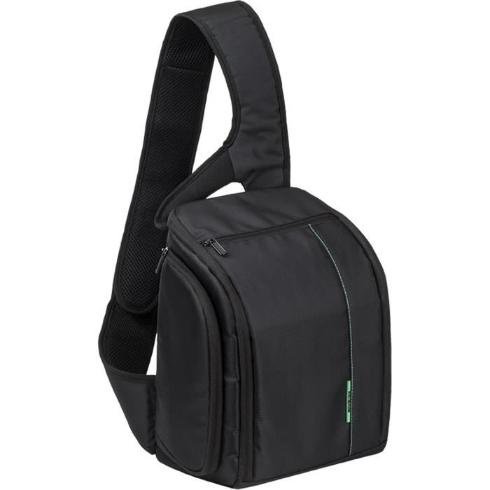 Sac à dos RIVACASE pour appareil photo (Canon, Nikon, Sony Pentax) + 2 objectifs, noir