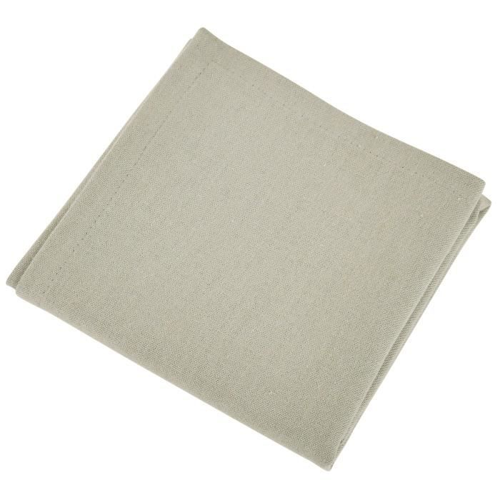VENT DU SUD Lot de 12 serviettes de table YUCO - Blanc lin