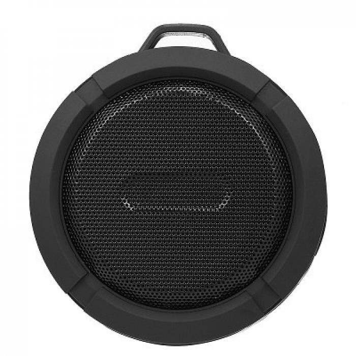 Portable Haut-parleurs Noir Electronique C6 Sans Fil Bluetooth Haut-parleur Étanche Sound Box Hooktf Fente Carte Mains