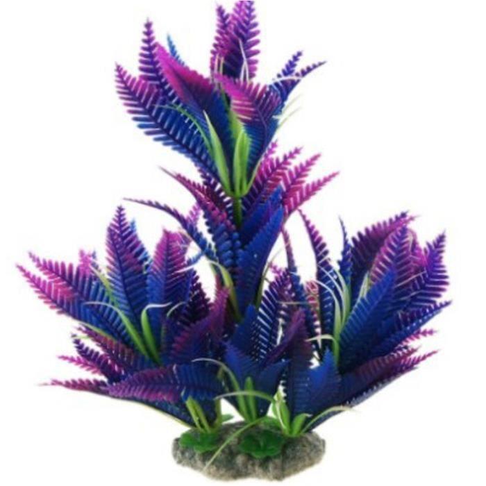 Yumyumis® Nouveau Artificielle En Plastique Décorative Longue Feuille D'herbe Aquarium Pour 9,8 Pouces Multicolore_230