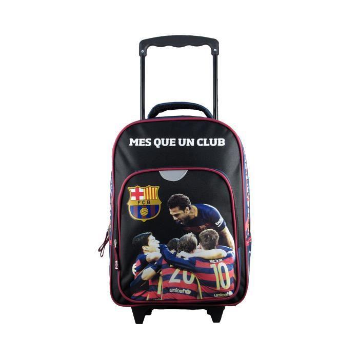 Sac à roulettes FC Barcelone Bleu-Noir Junior