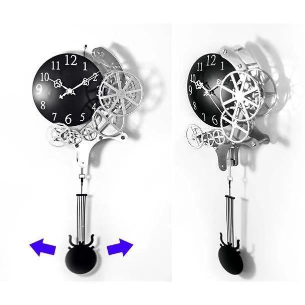 Unique deco chambre enfant avec pendule murale avec balancier decoration interieur avec - Horloge avec mecanisme apparent ...