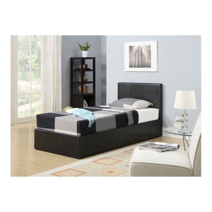 lit coffre 90x200 good classy lit coffre x concernant lit. Black Bedroom Furniture Sets. Home Design Ideas