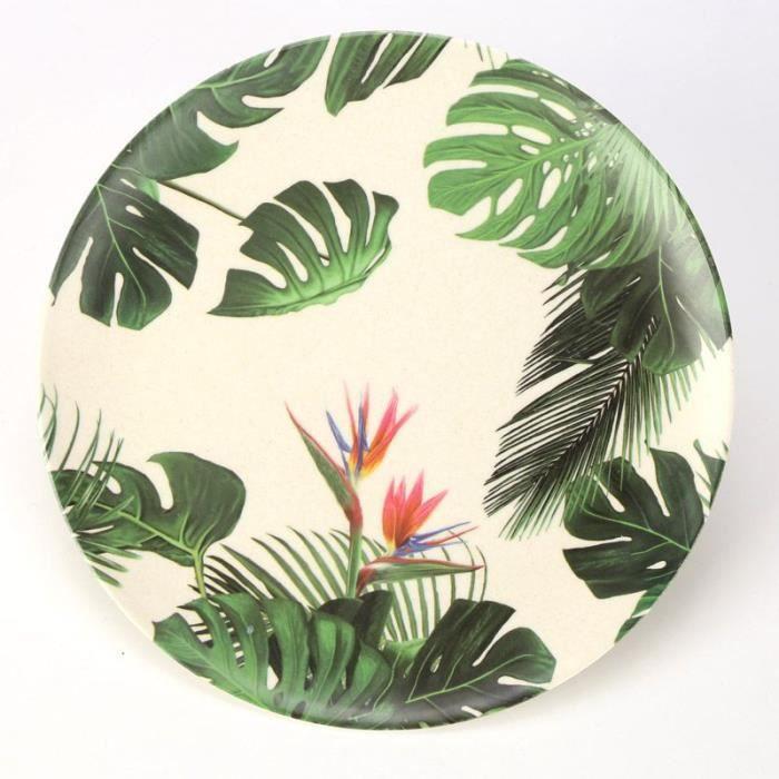 vente chaude en ligne f5476 670f5 Assiette Ecologique en Bambou Tropical Paradise - Achat ...