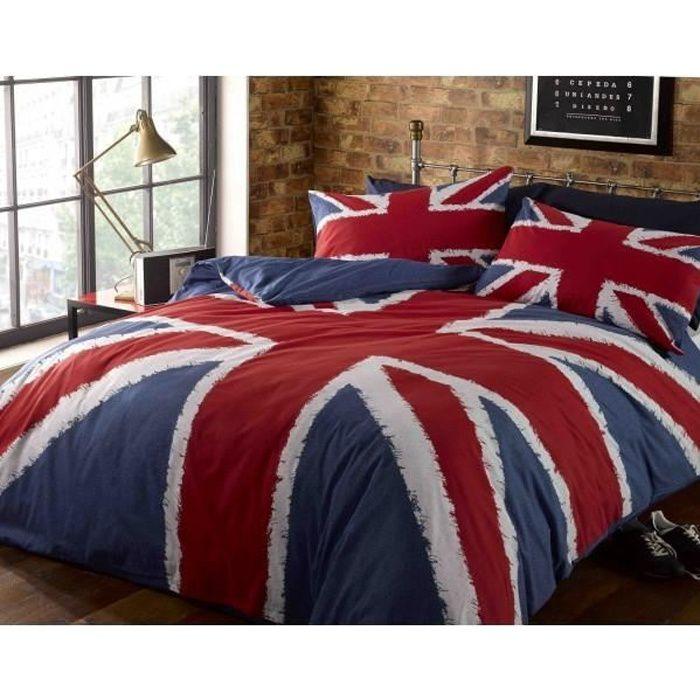 Parure de lit Londres Union Jack London   Achat / Vente parure de