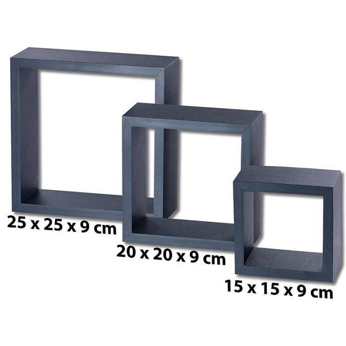 etageres cube noir achat vente pas cher. Black Bedroom Furniture Sets. Home Design Ideas