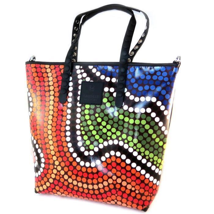 Sac créateur Gabs multicolore (L) - 40x35x11.5 cm [P1570]