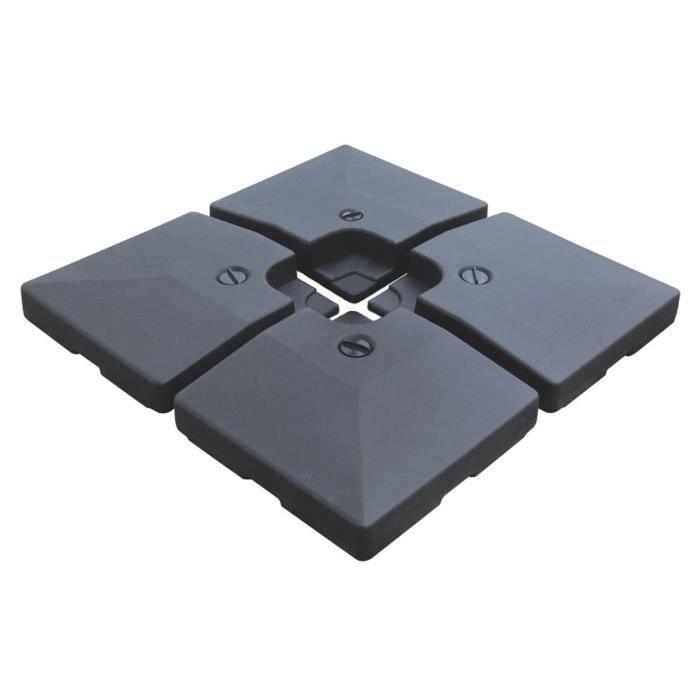 lot de 4 dalles carrées crozon - achat / vente dalle - pied de