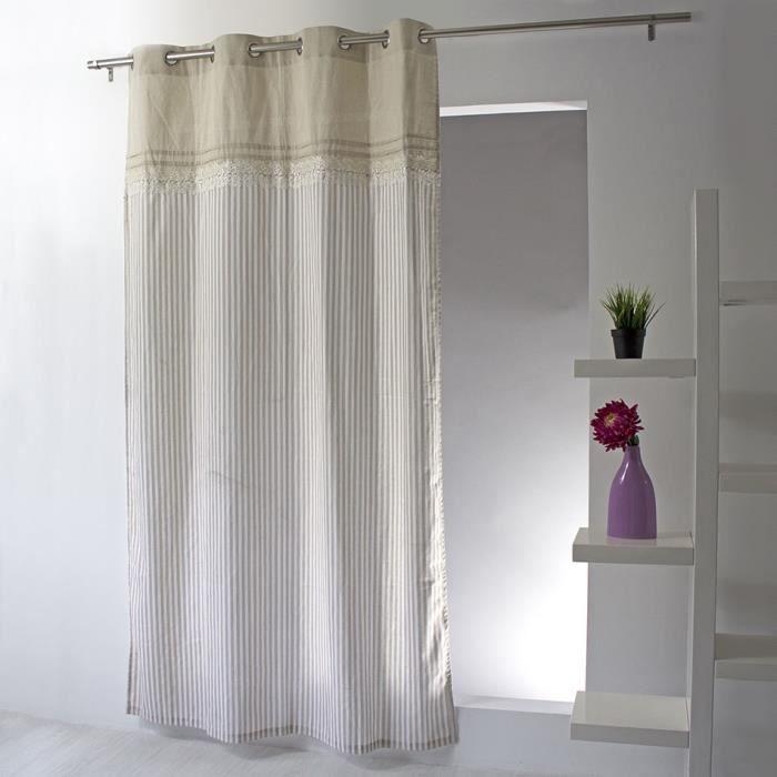 Rideau 140 x 240 romantique - Achat / Vente pas cher
