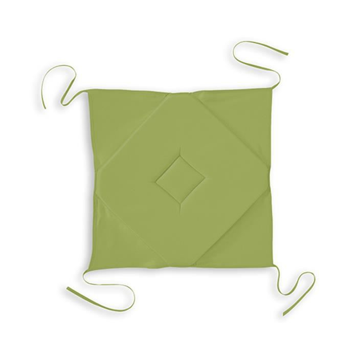 COUSSIN DE CHAISE Galette Rabats Polyester DAILY 40x40 Bambou