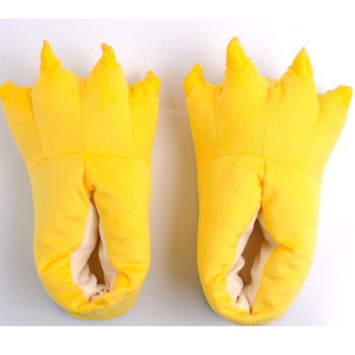 Chaussons Pantoufles Homme-Femme pour Adultes Chaussures D'hiver Chaudes ULipinL1e