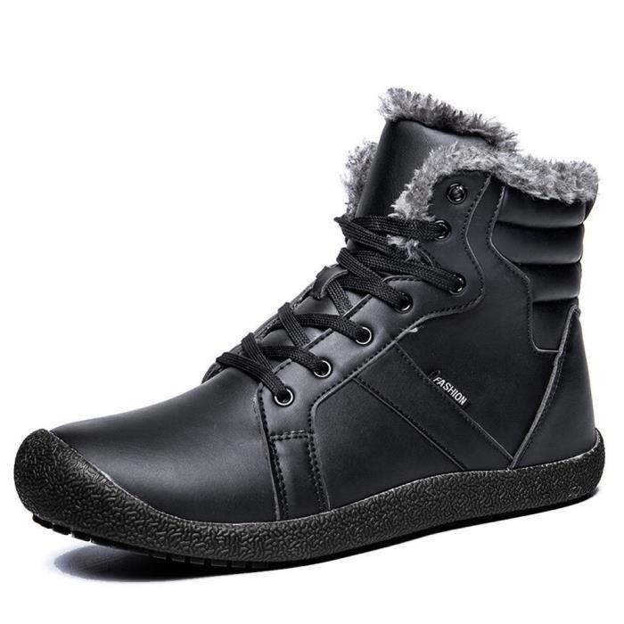 en Bottes doublure 1 VMHEG Taille 44 montantes cheville Mens de sport fourrure d'hiver 2 avec neige Chaussures Chaussures lacées de O7qw4x1