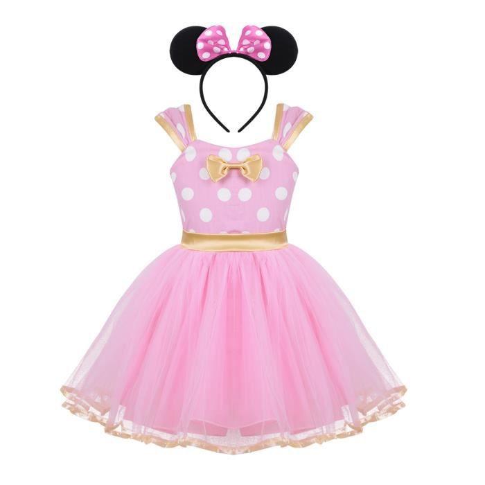 2026b4a9992 Tutu Robe de Princesse Fille Enfant Costume Deguisement Carnaval Halloween  6 Mois-4 Ans Rose