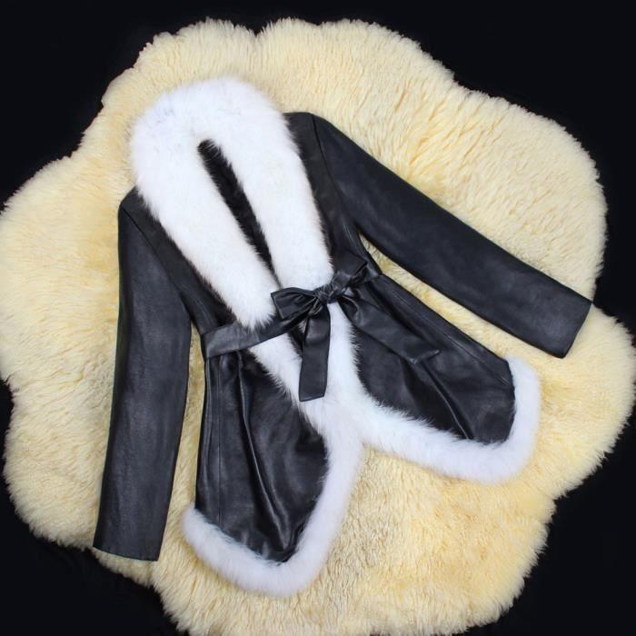 En Cuir Outwear Blanc Manteau Parka Hiver Pardessus Femme Femmes Chaud Veste 6t11IA
