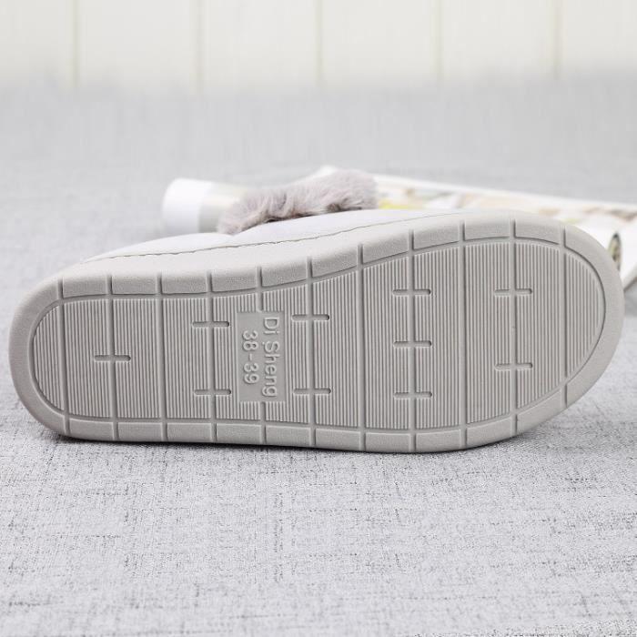 Automne et mode d'hiver visage souriant mignon chaussures en coton chaud non - slip pantoufles en coton chaussures maison Vey8b