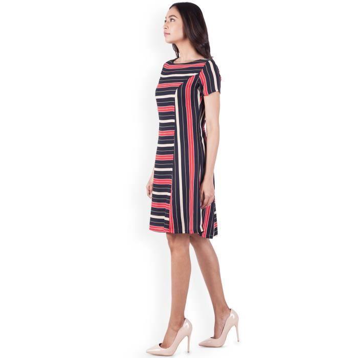 Multicolore féminin A-ligne Casual Wear PourV39LN Taille-36