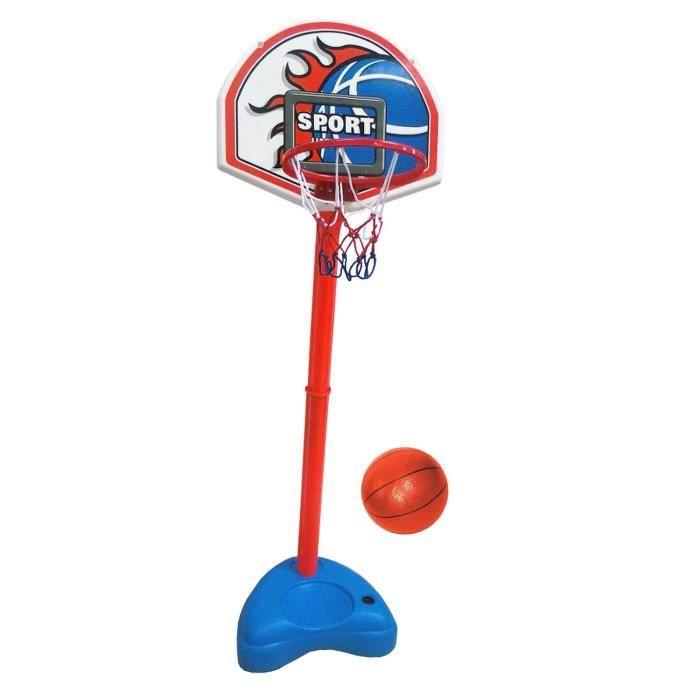 CDTS Panneau de basketball -basket 31x43 cm Panier sur Pied avec Base Lestable + Ballon de Basket