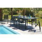 MIAMI Ensemble de jardin en aluminium 8 places - Table extensible ...