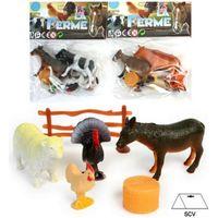 TABLE JOUET D'ACTIVITÉ lot de 4 figurines animaux de la ferme 4/10cm