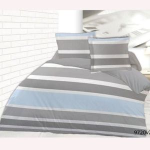 Housse de couette a rayures achat vente housse de couette a rayures pas cher cdiscount - Housse de couette rayures ...