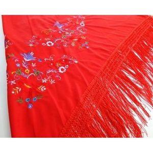 9cc9d8edc5ff BÂTON - ÉPÉE - BAGUETTE Foulard ceinture chale de danse flamenco rouge fra