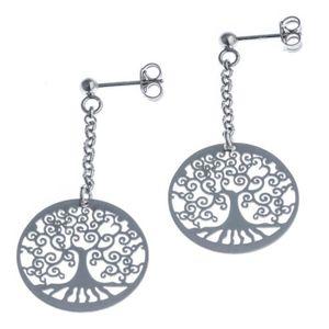 Boucle d'oreille Boucles d'oreille pendantes arbre de vie Argent fi