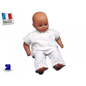 PANTALON Pantalon et chemise baptême enfant coton blanc Tai