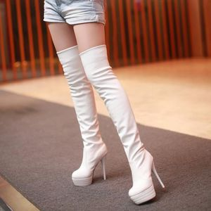 BOTTE Eur Taille Femmes Sexy Bottes Red Bottom Talons Fe