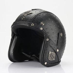 CASQUE MOTO SCOOTER Casque Moto de Marque luxe unisexe Casque Harley v