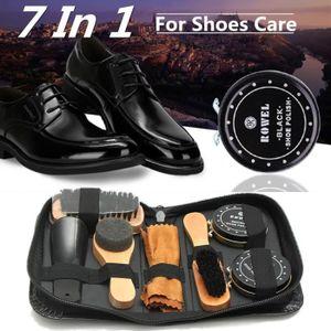 CIRAGE ET ENTRETIEN 7en1 Neutre Brosse Polissage Cirage à Chaussure Bo