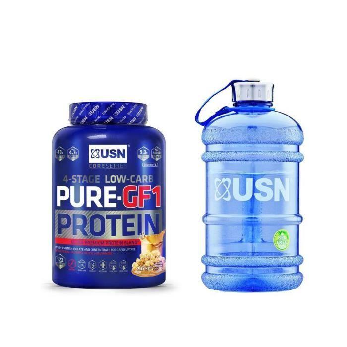 USN Pure Protein IGF-1 Popcorn Caramel 2.28 kg + 1 Water Jug 2.2l. OFFERT