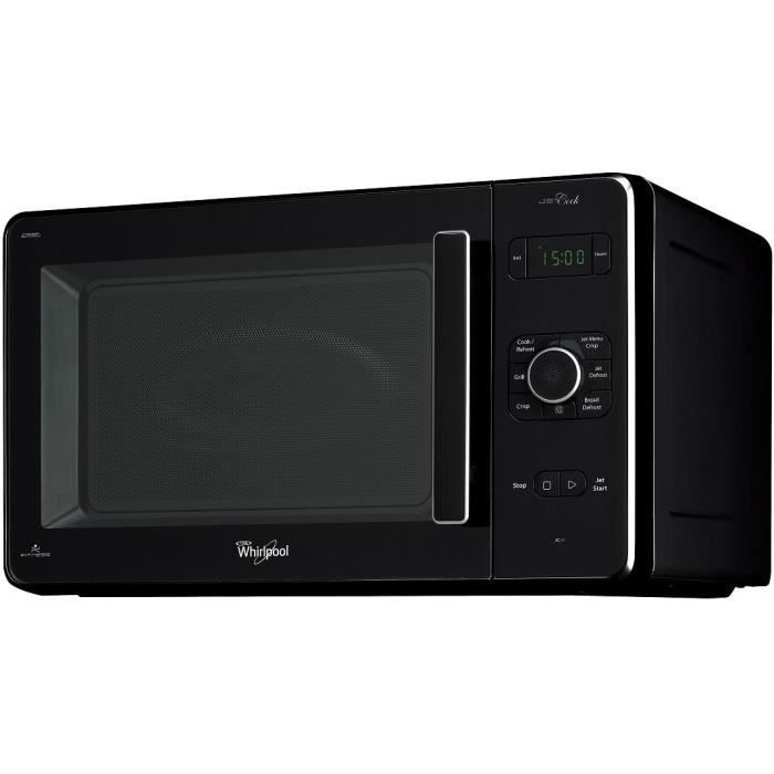 WHIRLPOOL JC 216 NB - Micro ondes grill noir - 30 L - 950 W - Grill 1050 W - Pose libre