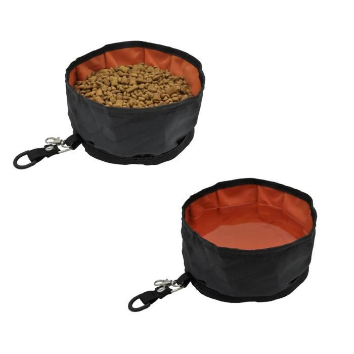 Pet Dog Travel Collapsible Bowls Oxford Fabric Waterproof Portable Foldable Food 3a79m1